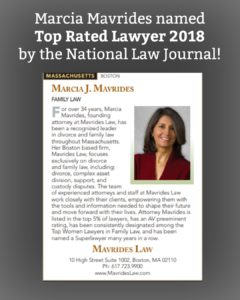 Mavrides Law and Marcia Mavrides Best Boston Divorce Lawyer by National Law Journal