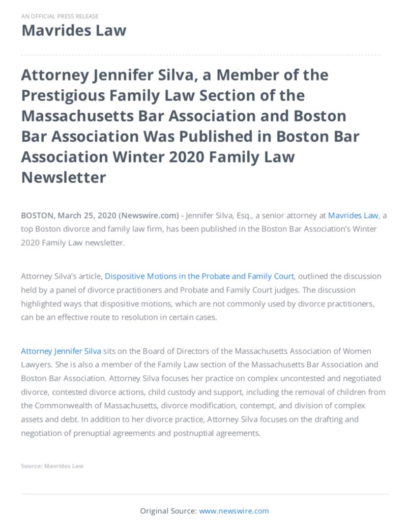 Jennifer Silva top Boston divorce attorney